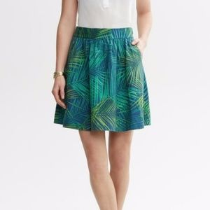 🎀NWT🎀 Banana Republic Fern Print Linen Skirt